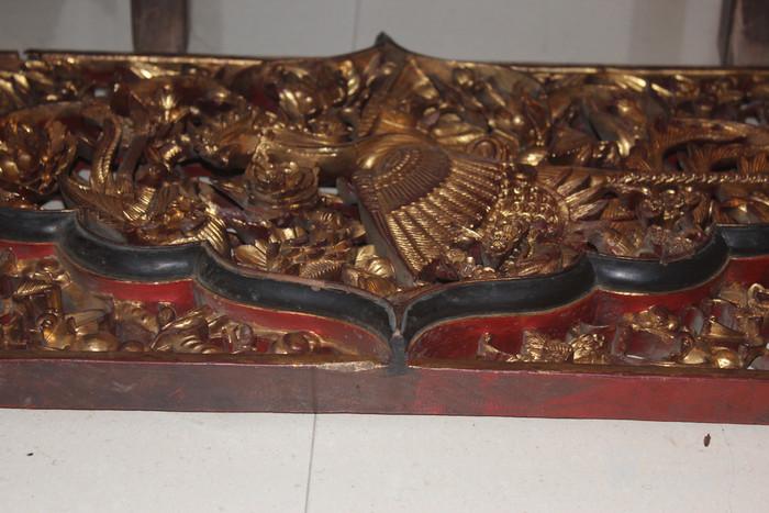 清代潮州老木雕挂件图8