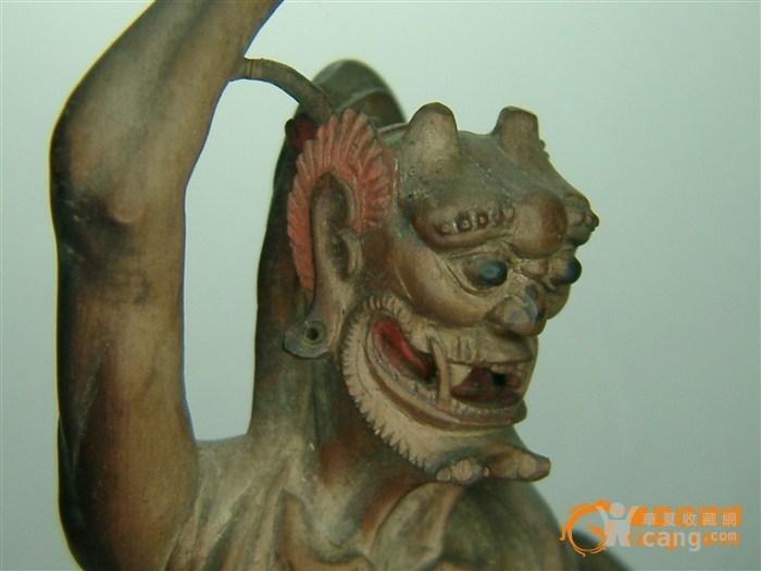 魁星 木雕