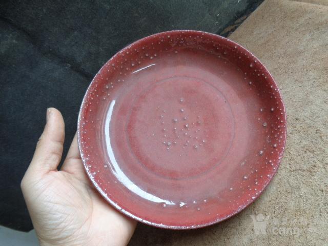 老红釉盘子