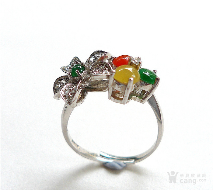 925银花朵戒指 国庆中秋特价