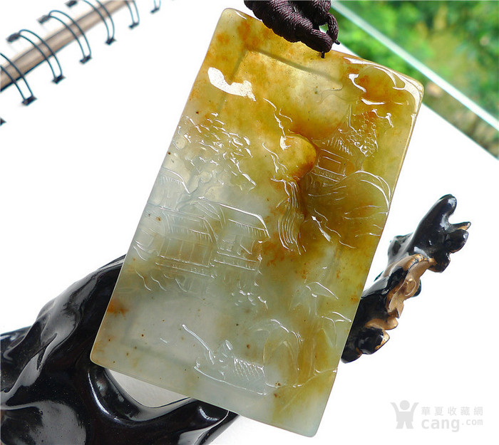 冰种黄翡山水如画 国庆中秋特价