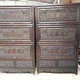 清代紫檀雕龙柜子老家具明清家具木器