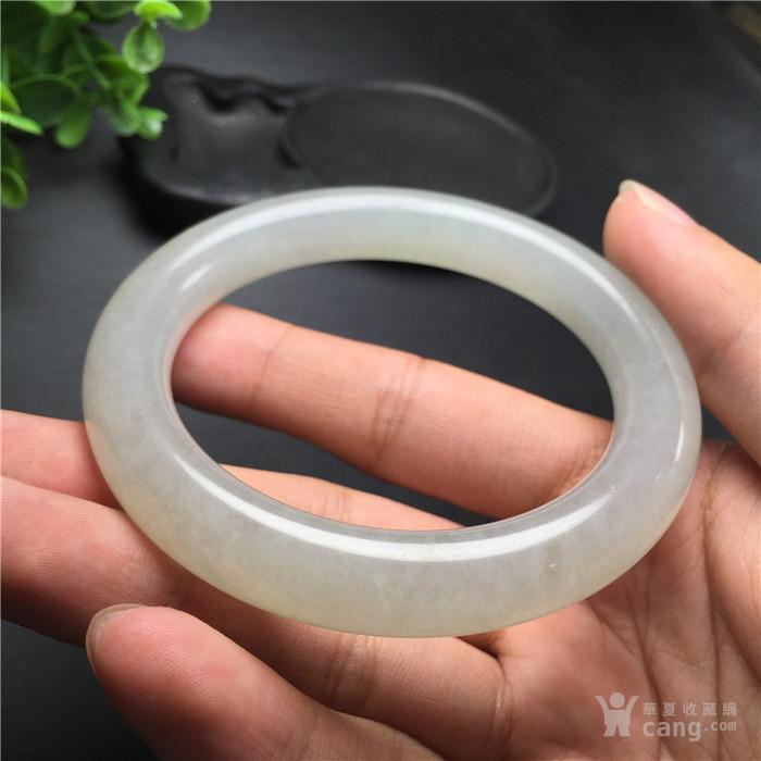 玉泉文玩V974创汇期冰种翡翠粗管圆条手镯
