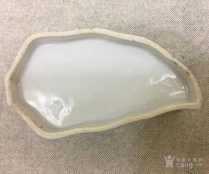 晚清粉彩鹤鹿同春镂空叶型盖缸