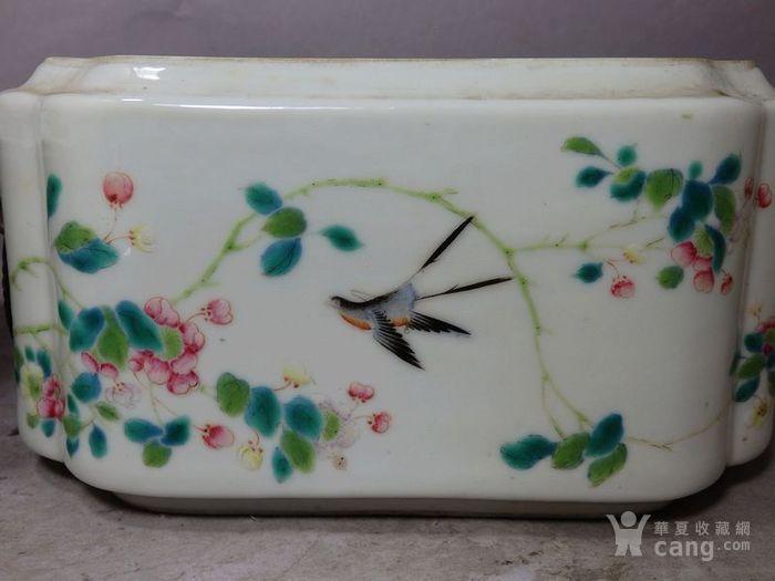 道光粉彩花鸟绘画四方暖锅