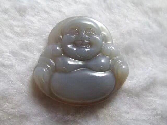 描述:小有年头 天然 紫罗兰 玛瑙 笑佛吊坠 雕刻精美 开脸