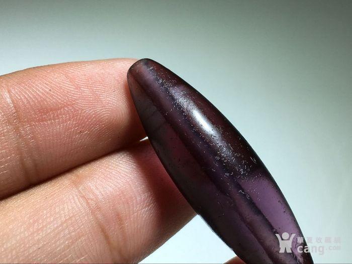 :晚清 紫色 琉璃 勒子 包浆熟润 马蹄纹清晰图2