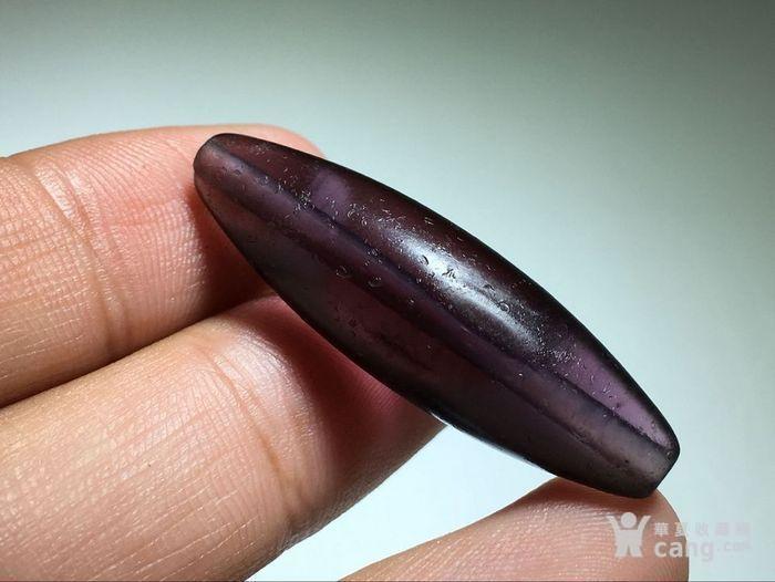 :晚清 紫色 琉璃 勒子 包浆熟润 马蹄纹清晰图6