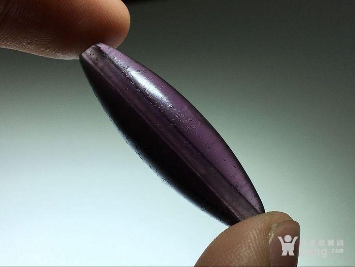 :晚清 紫色 琉璃 勒子 包浆熟润 马蹄纹清晰图8