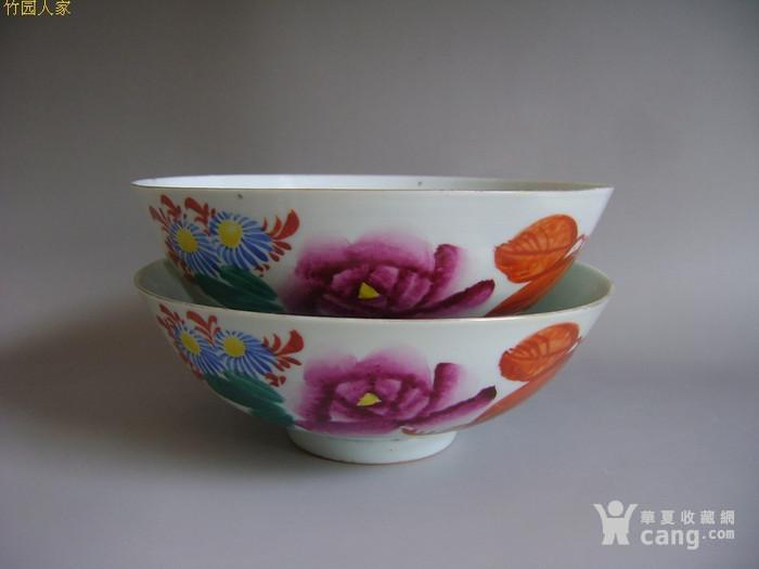 被遗忘的建国瓷:江西萍乡瓷厂彩绘 枫叶菊花 薄胎碗
