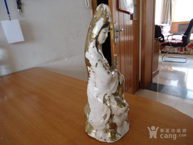清民溜金观音瓷像