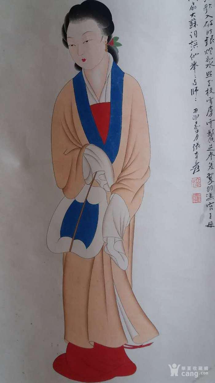 清代老侍女画