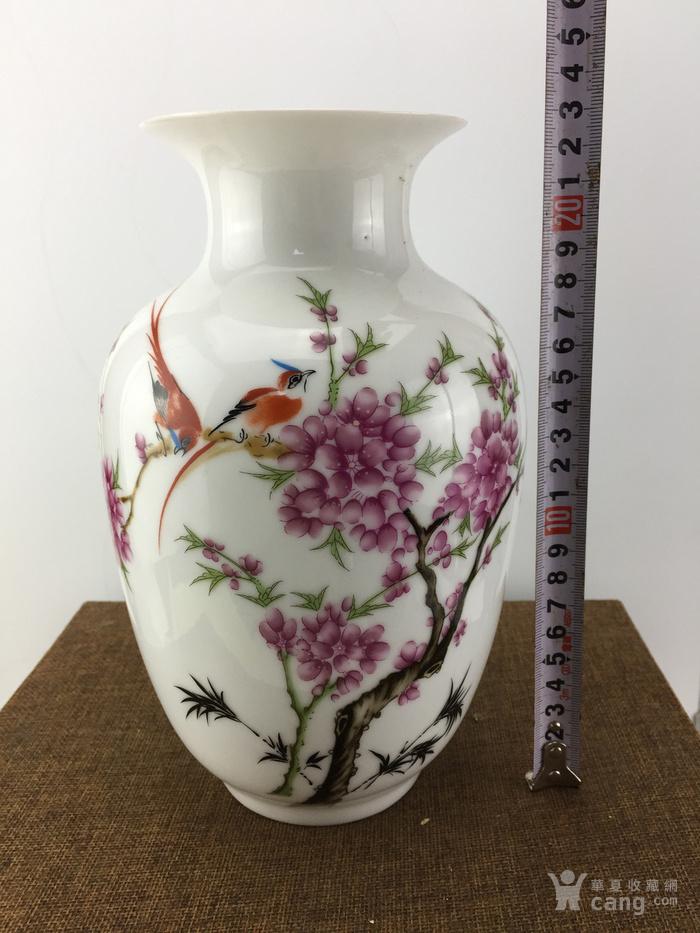 景德镇花鸟瓷瓶A2371图1