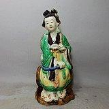 清代石湾窑侍女人物塑像