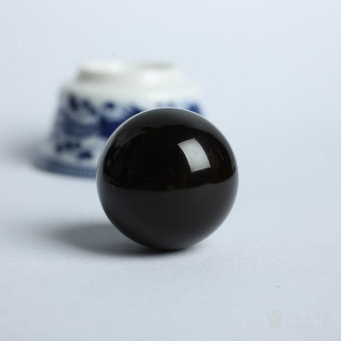 黑加伦缅甸琥珀圆珠 10JI01图1