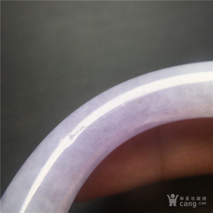 玉泉文玩w118创汇期糯冰种春带彩翡翠粗管圆条手镯
