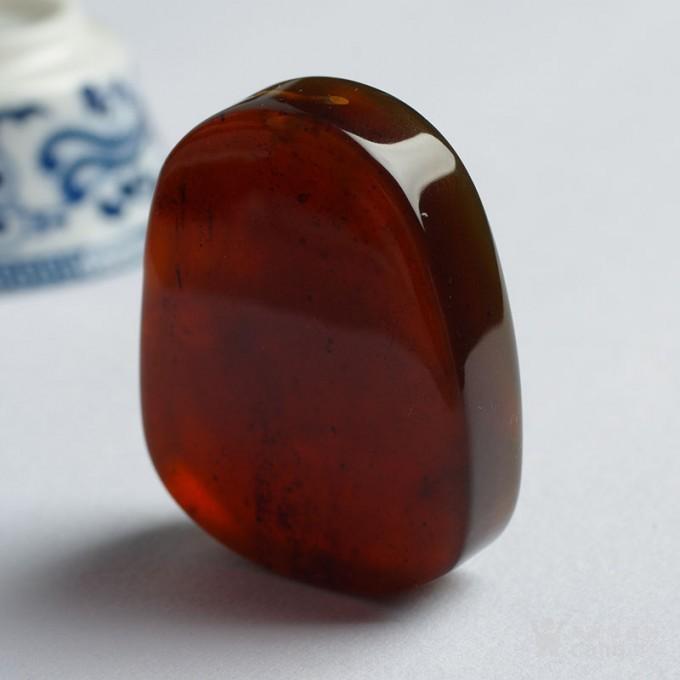 棕红缅甸琥珀普贤菩萨吊坠 25JK02图6