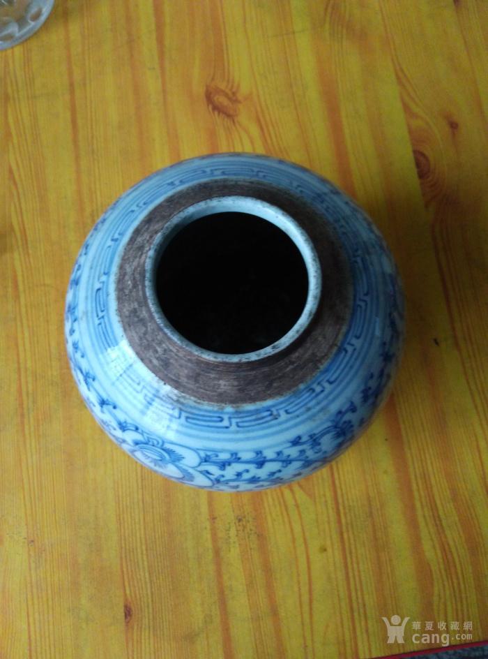 清乾隆青花罐