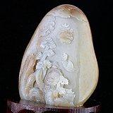 新疆和田玉天然白玉籽料苏工雕办公客厅摆件546.0g