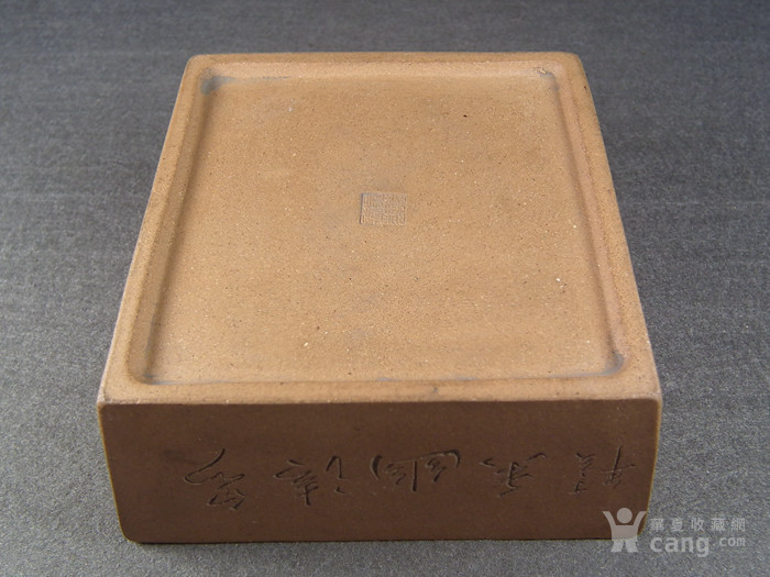 老黄泥紫砂兰花诗文方形小水仙盆图6