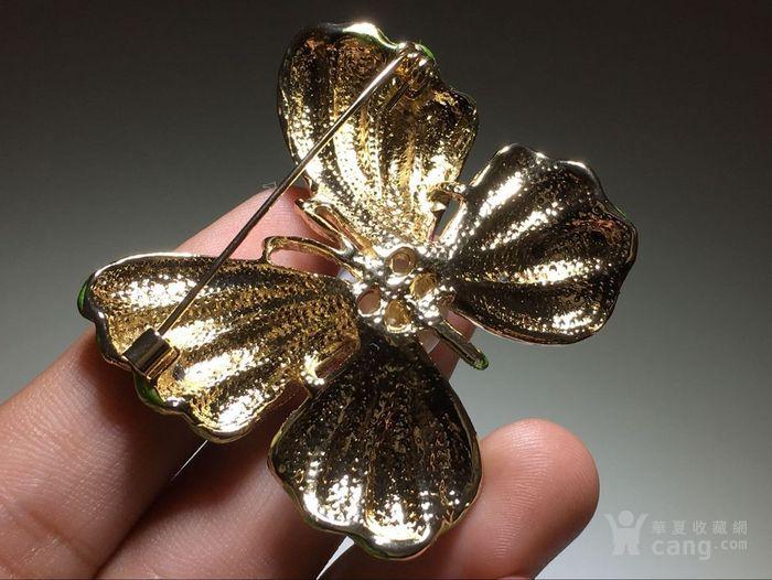 回流 蝴蝶珍珠胸针 纱巾针 手工制作
