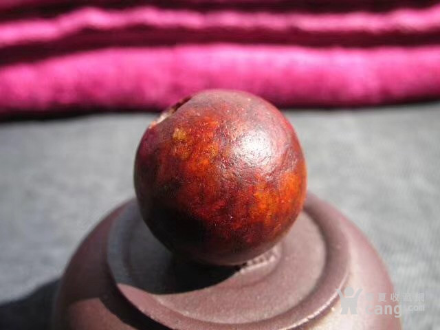 玉珠 包浆老道 皮壳熟润 沁色漂亮图1