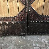 花纹漂亮铁艺精致满工结实厚重大门一对装修神器