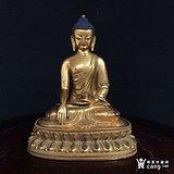清中期鎏金释迦摩尼佛像