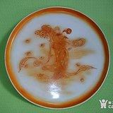 被遗忘的建国瓷:全品手绘 仙女散花 茶盘