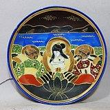 明治时期粉彩人物绘画盘