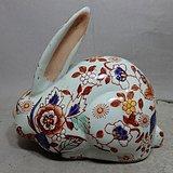 文革粉彩兔子摆件