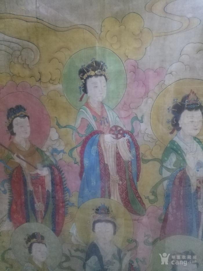 绢本七仙女图手绘