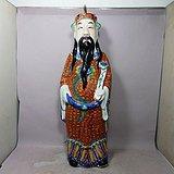 清代粉彩财神塑像