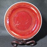 清代红釉大盘