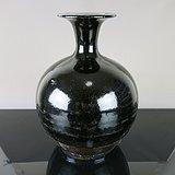 17世纪黑釉玉壶春瓶