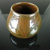 19世纪紫金釉鸡心罐