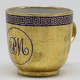 清乾隆金釉徽章瓷小杯