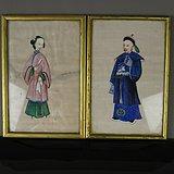 19世纪通草人物画