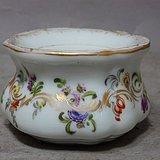 维多利亚时期粉彩花卉绘画水盂