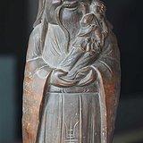 抱小孩的竹寿星