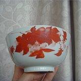 民国粉彩枫叶纹碗