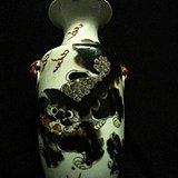 清晚期黑狮子尺瓶