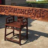 苏工清代银杏木独板梗面大花板