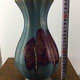 蓝釉花口瓷瓶A1473