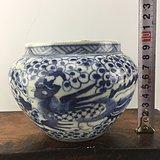 青花凤纹瓷罐A1237