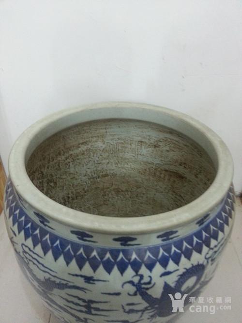 明青花龙纹缸