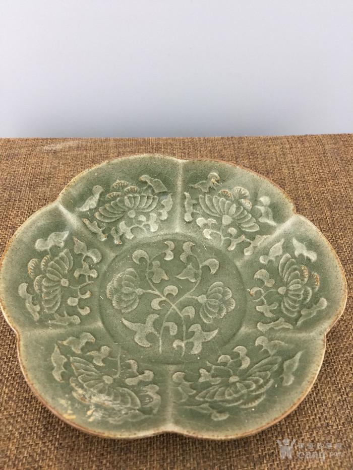 绿釉花卉瓷碗A4045图3
