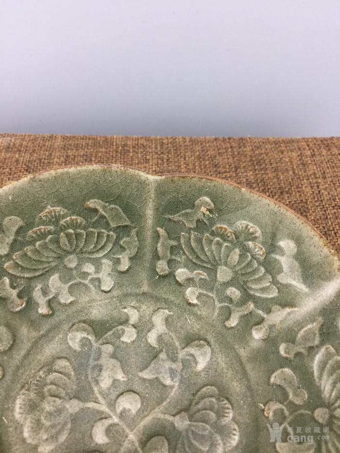 绿釉花卉瓷碗A4045图4
