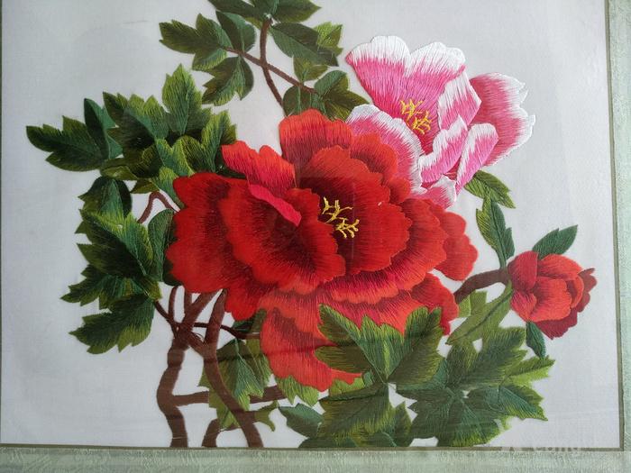 苏州刺绣牡丹一幅图片