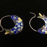 银掐丝景泰蓝双鱼耳环